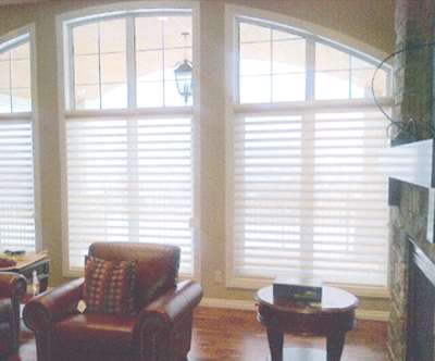 Hunter Douglas Pirouette Shades And Calgary Window