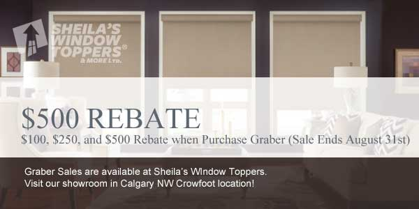 Graber Rebate and FREE Cordless Blinds Sale